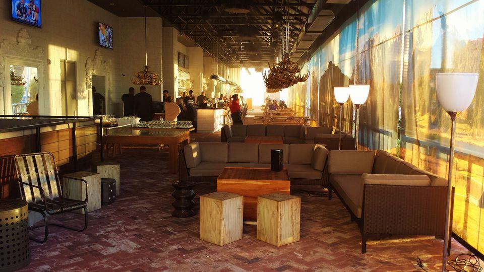 Outdoor Bar at Umami Burger and Sayers Club at SLS Las Vegas