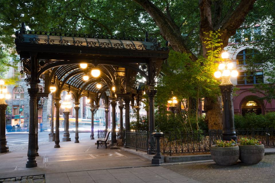 Pioneer Square Pergola in downtown Seattle, WA