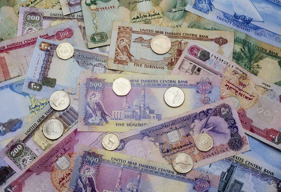 Dubai currency dirham and fils