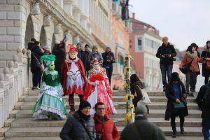 Venice Carnival, Carnival di Venezia in St. Marks Square, Italy