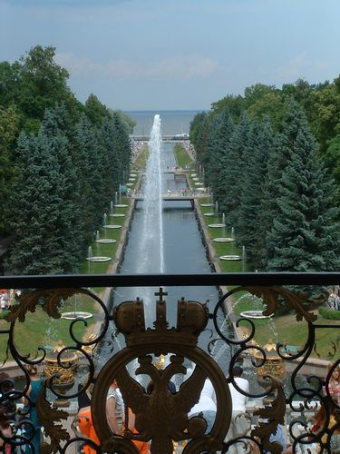View of the Marine Canal at Peterhof