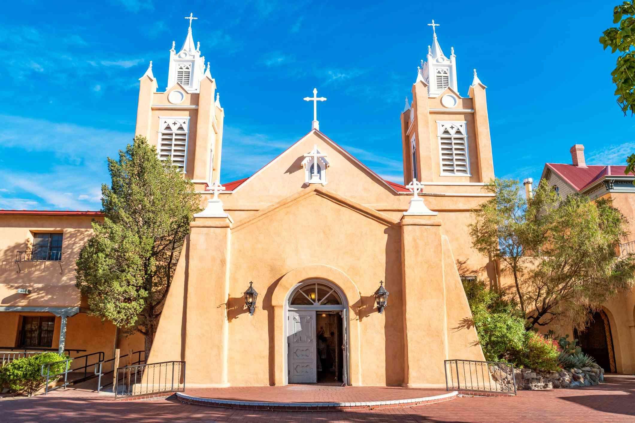 San Felipe de Neri Church in Old Town Albuquerque New Mexico USA