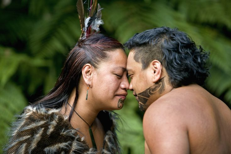 The Mãori Hongi Greeting of New Zealand