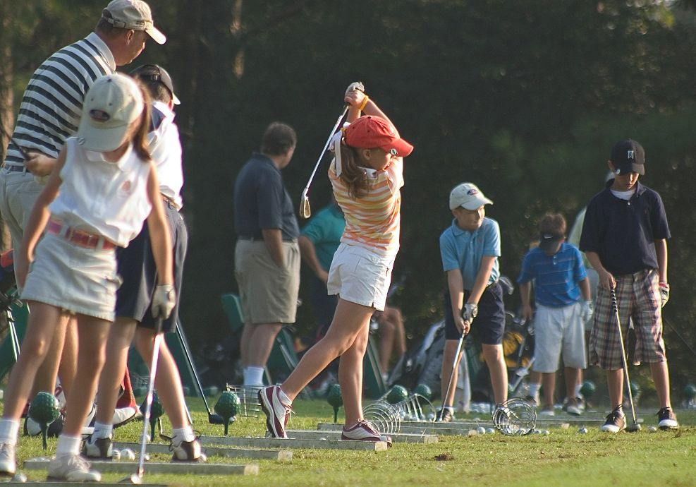 group of kids golfing at Callaway Gardens: Pine Mountain, GA