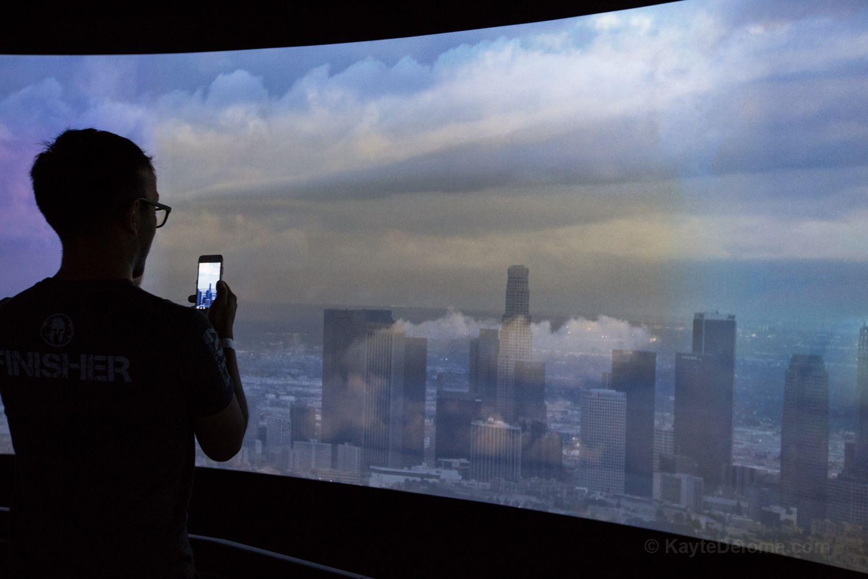El panorama de video de 360 grados en el piso 54 en Skyspace LA