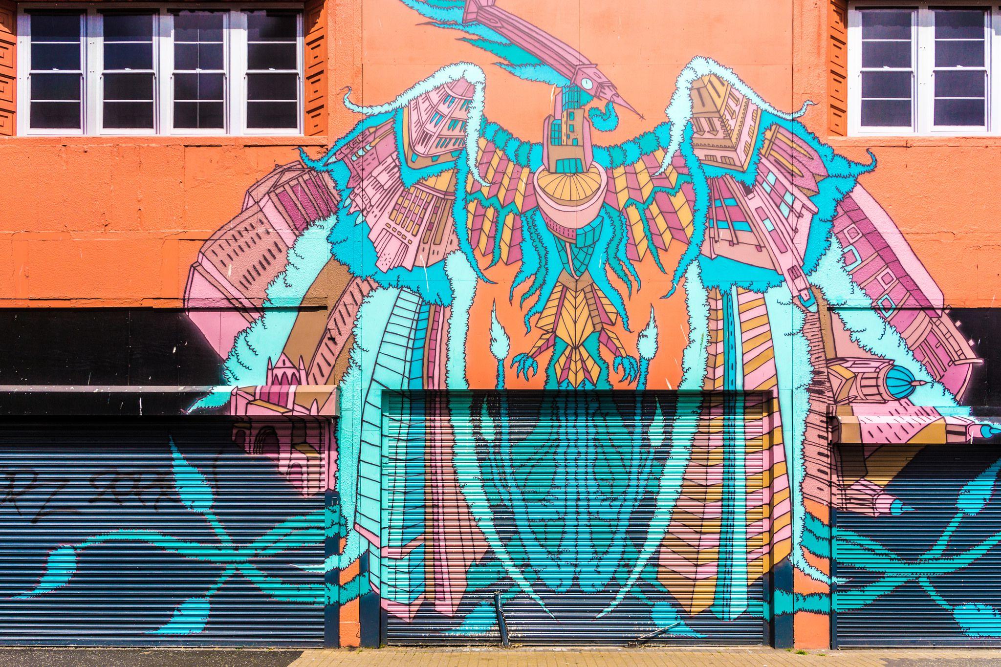 Phoenix mural in Belfast Northern Ireland