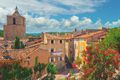Streets of Barjols, town in Provence, France