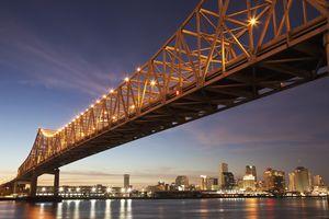 New Orleans, Toll bridge over Mississippi River