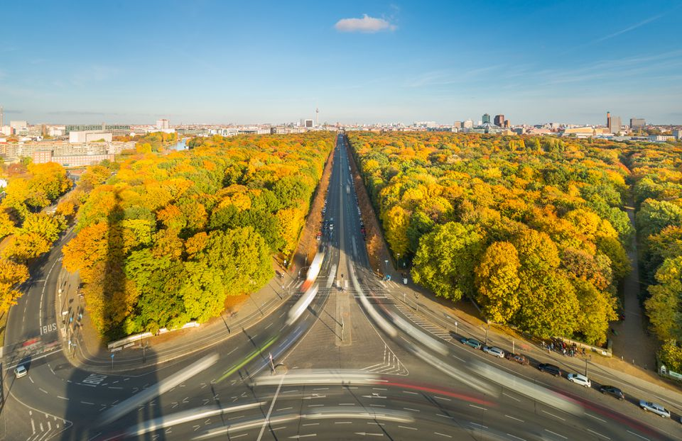 Berlin Modern Urban Skyline City in Autumn