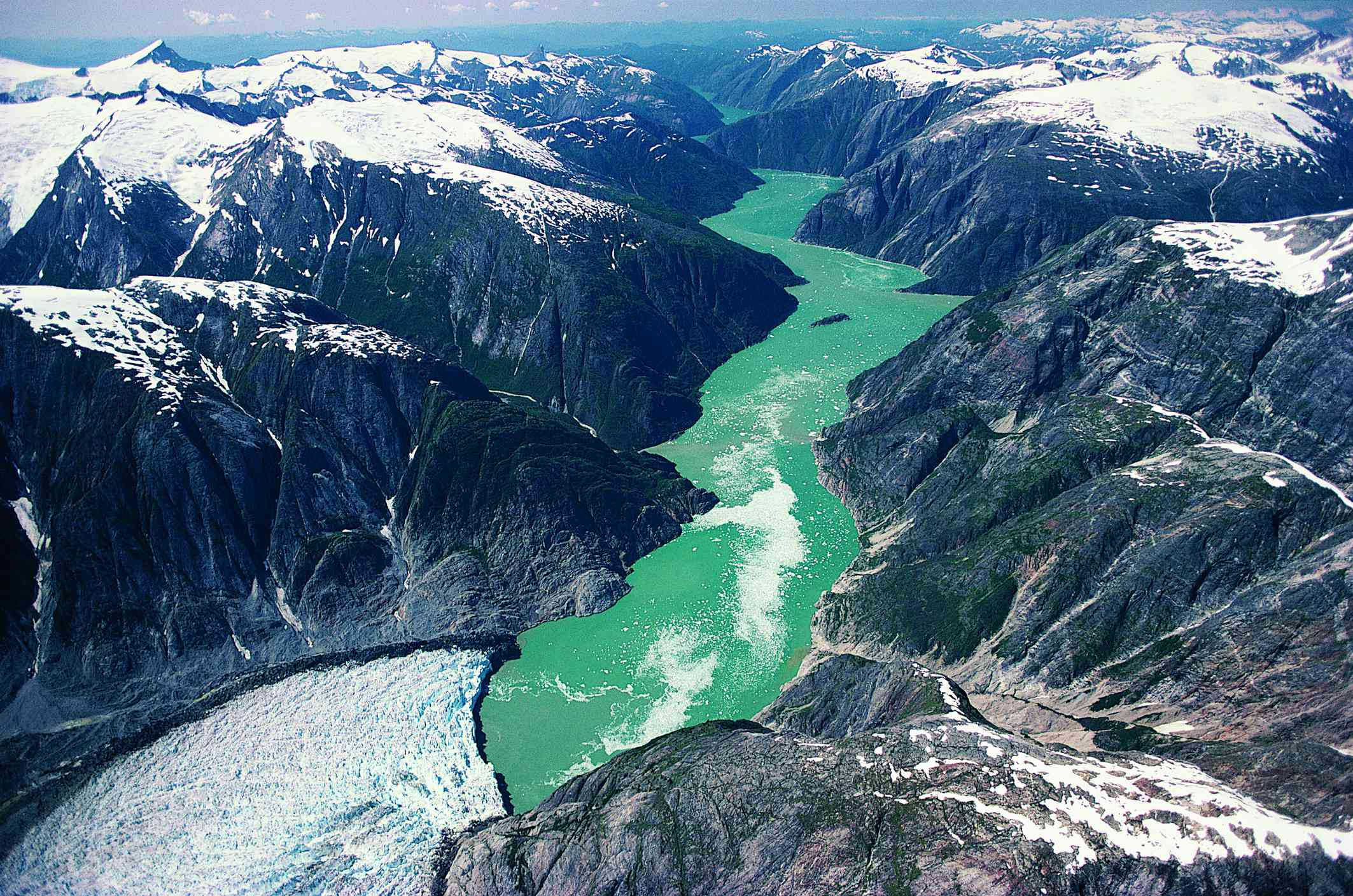 Tracy Arm Fjord seen from above