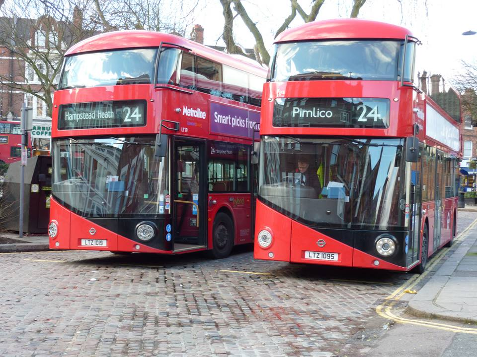 Bus 24 in London, England