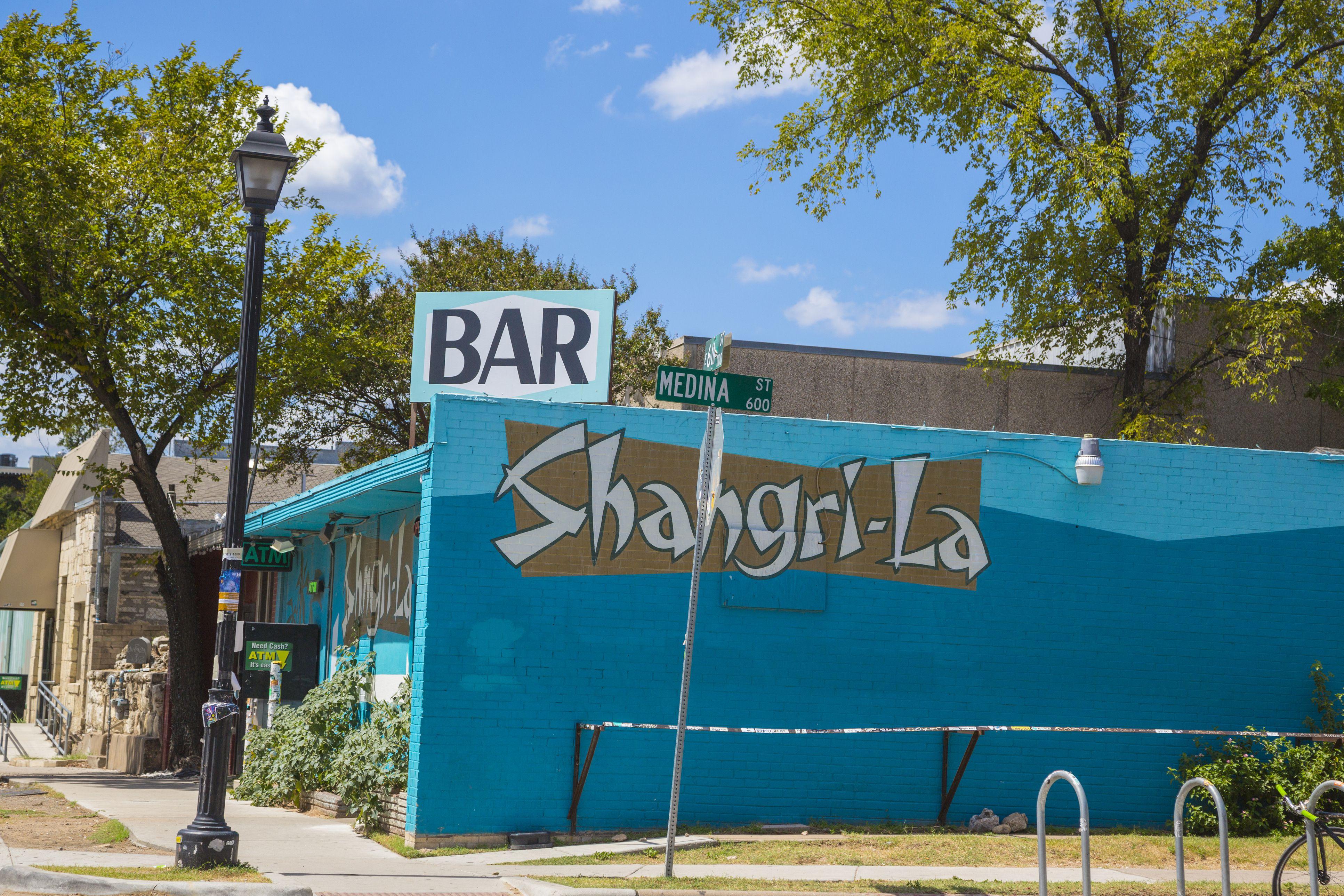 Shangri-La bar on East 6th St, East Austin, Texas