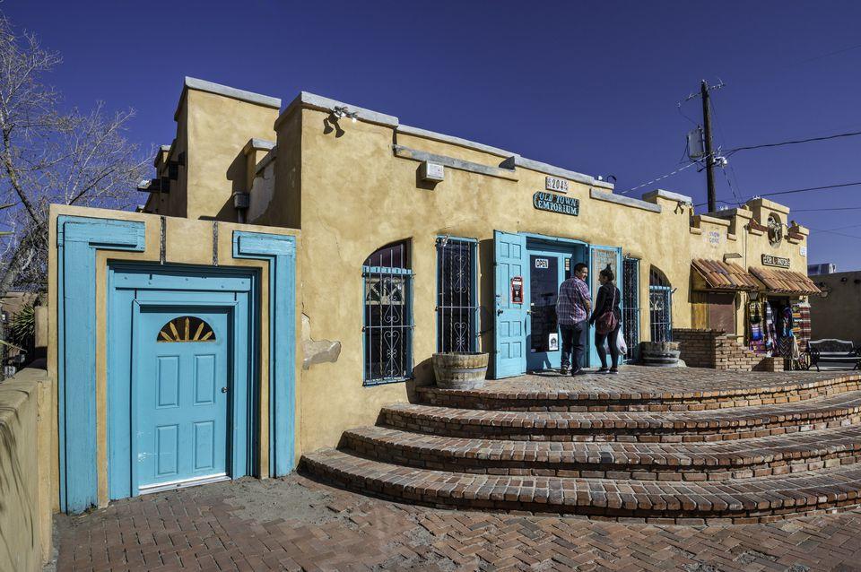Souvenir shops, Old Town, Albuquerque,