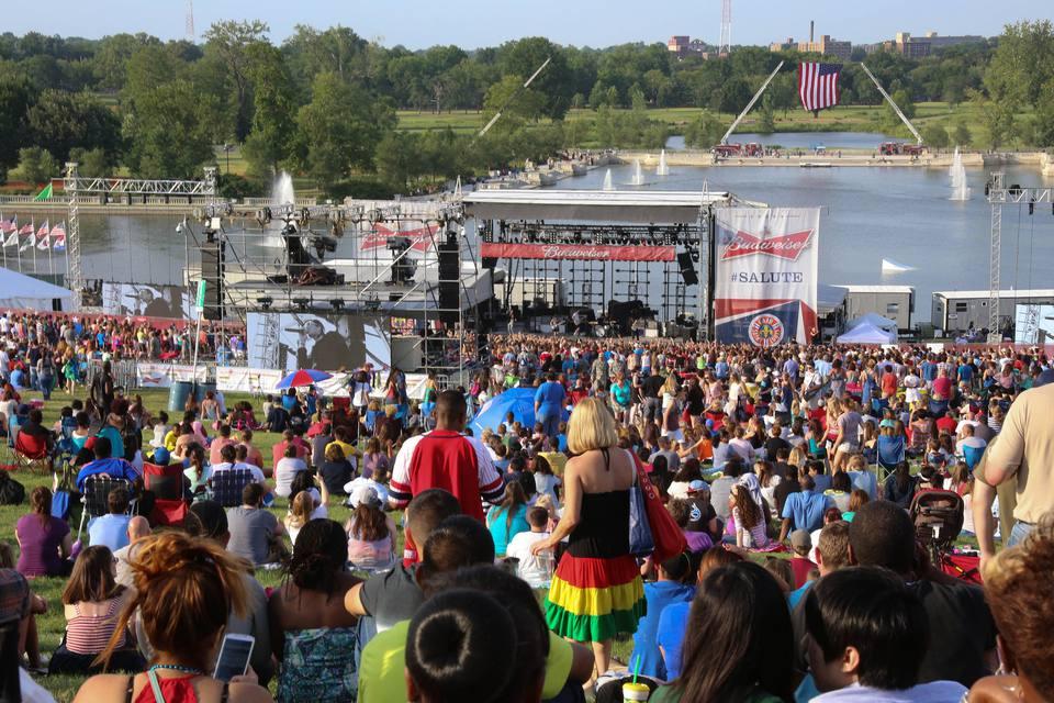 Crowd at Fair Saint Louis in Forest Park