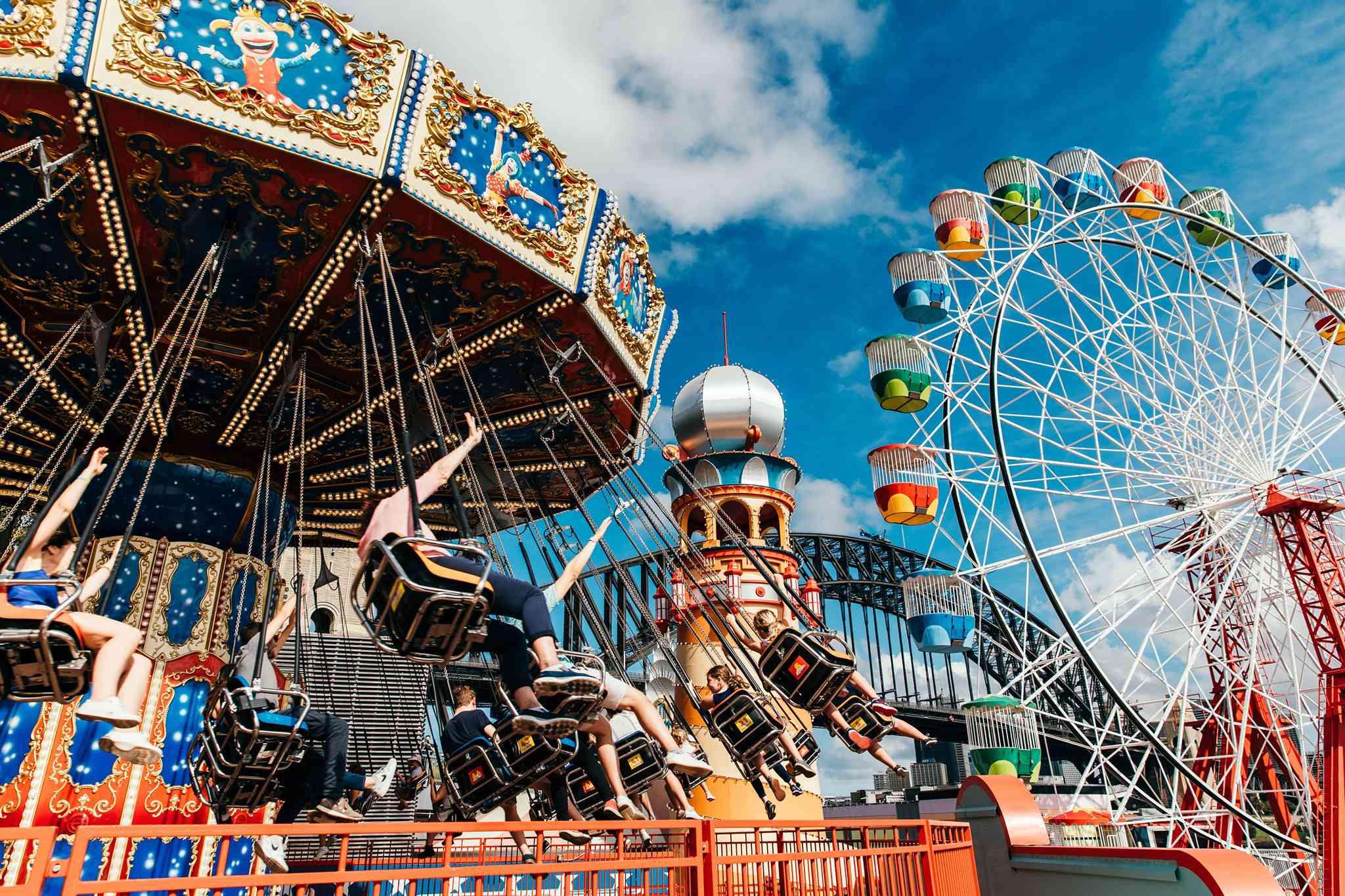 Amusement park rides at Luna Park