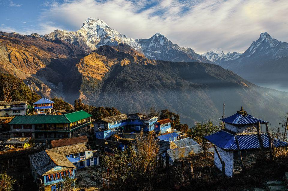 landscape of annapurna mountain