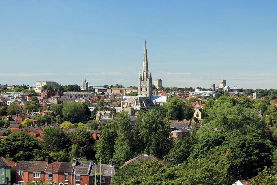 Norwich City on a Summer's Day