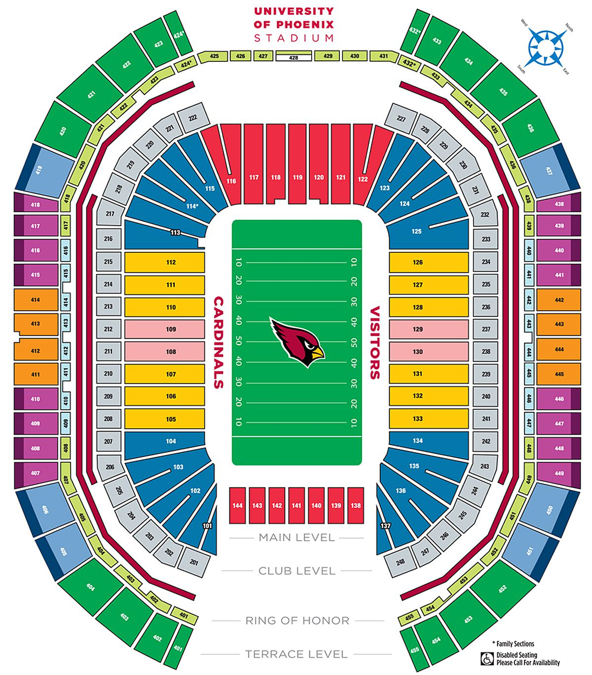 19 Best Of University Of Phoenix Stadium Seating Chart with Seat Numbers
