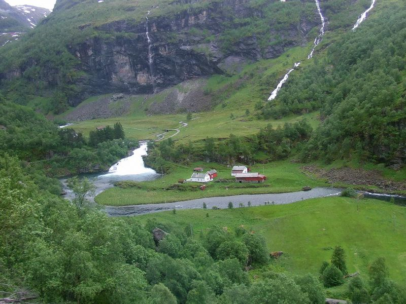Flam to Voss Railway near Flam, Norway