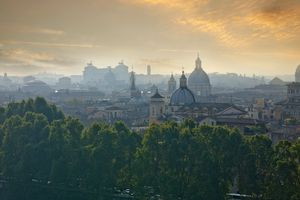 View of Rome at sunrise
