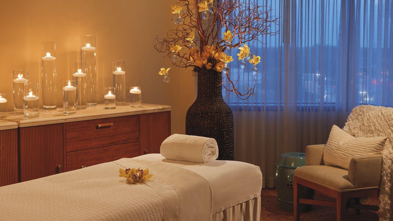 Massage table at The Spa at The Ritz-Carlton, Buckhead, GA