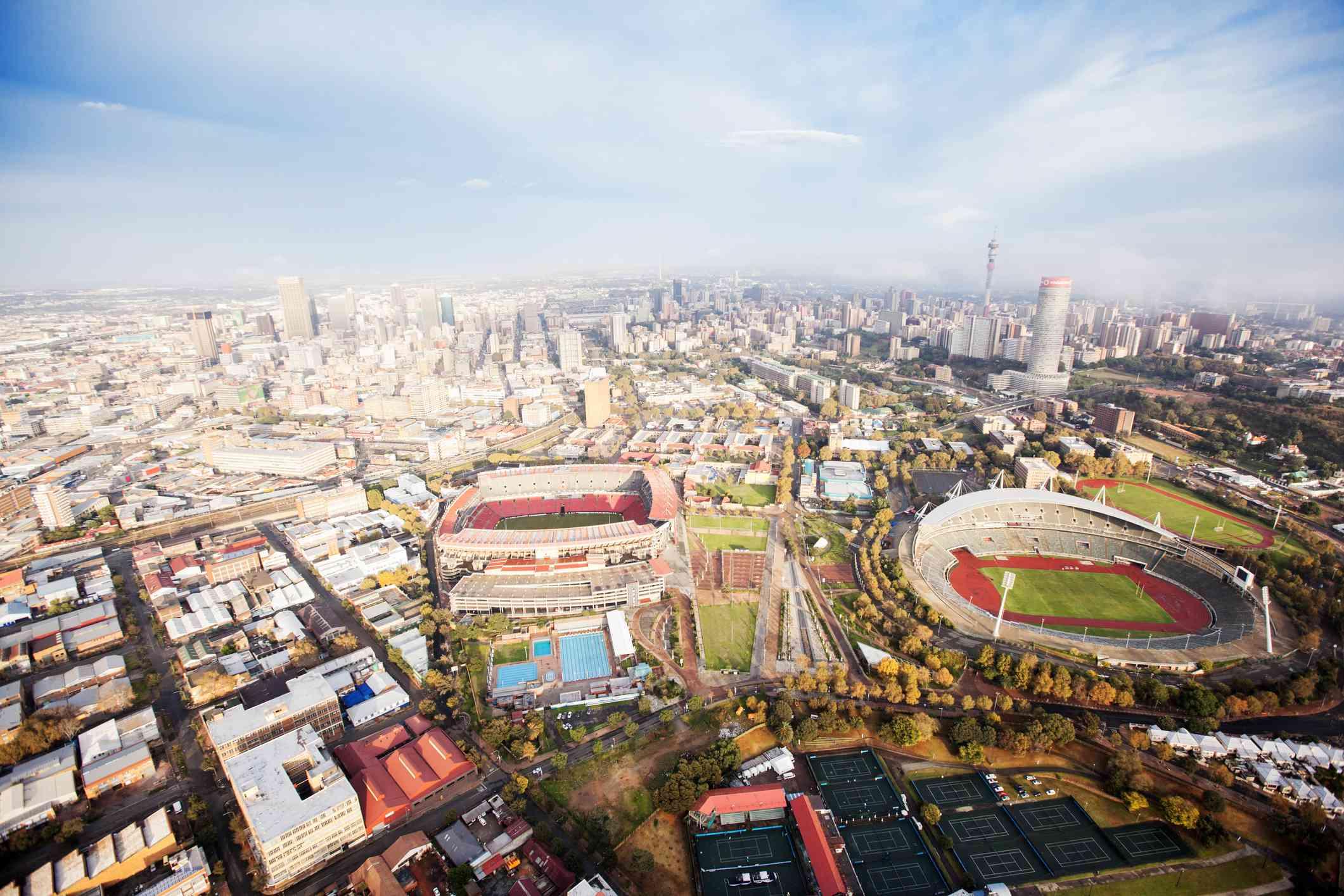 Aerial View of Ellis Park Stadium, Johannesburg