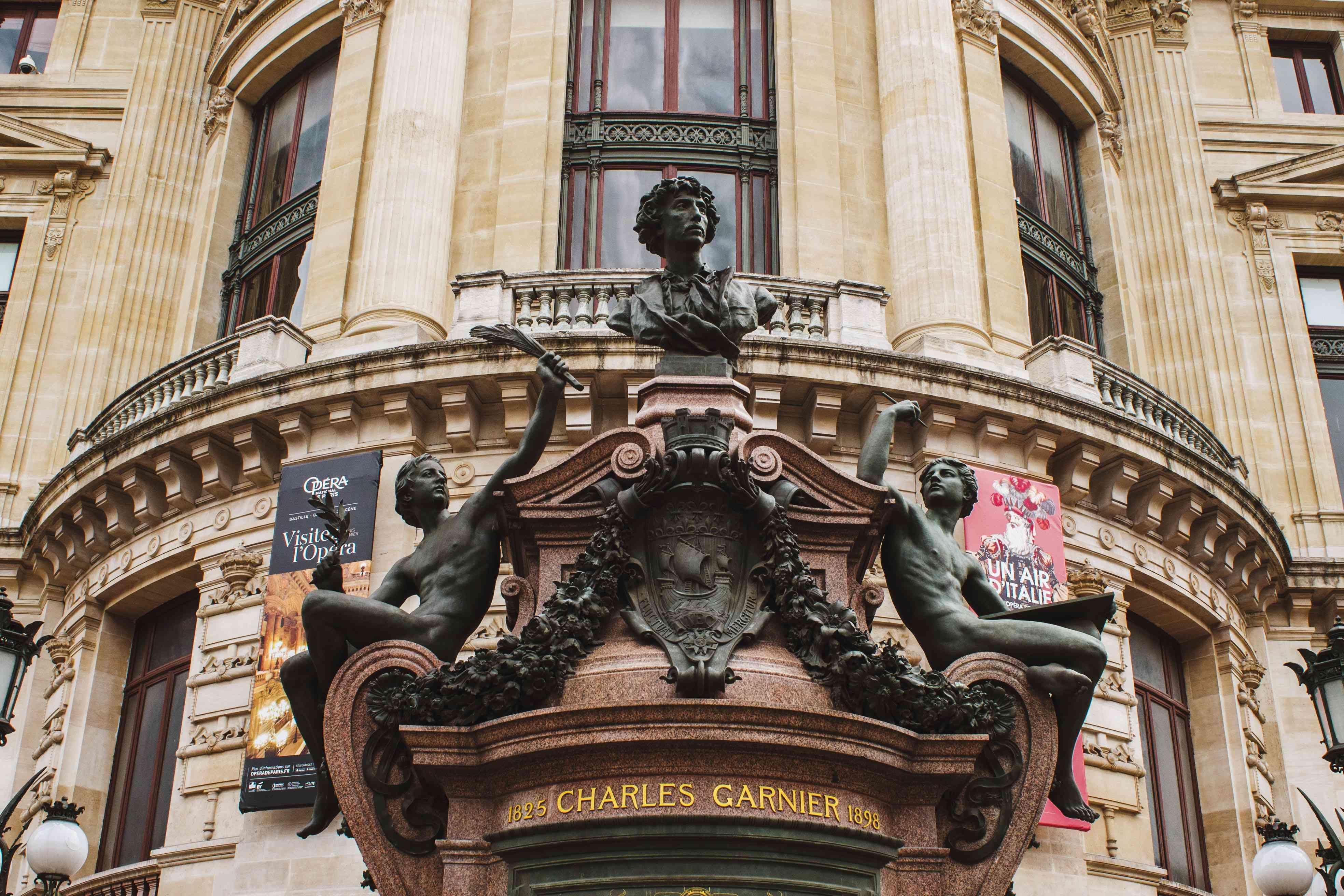 States in front of Palais Opera Garnier