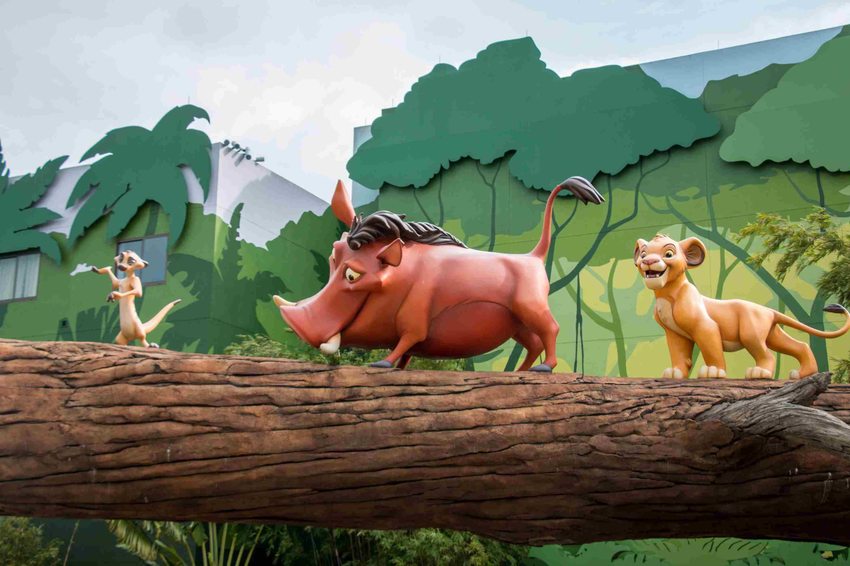 Lion King-themed area of the Art of Animation Resort at Walt Disney World