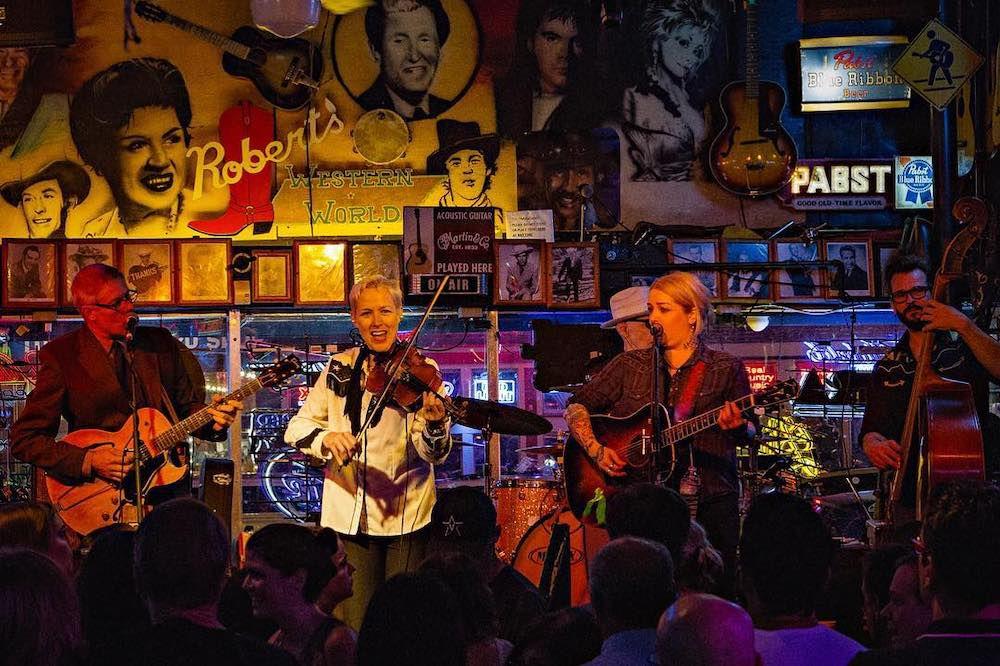 A band plays at Robert's Western World