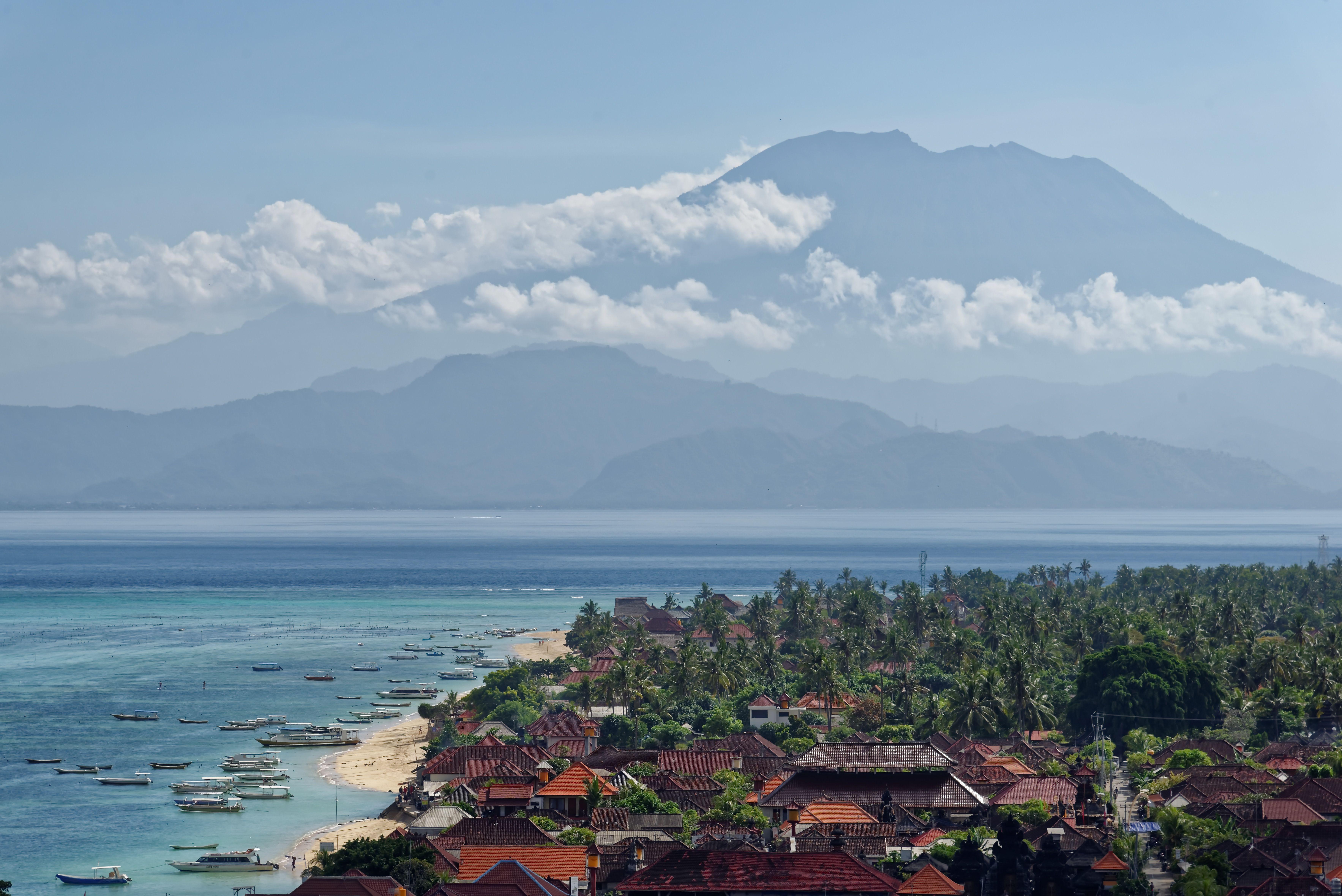 Mount Agung and Jungut Batu Village