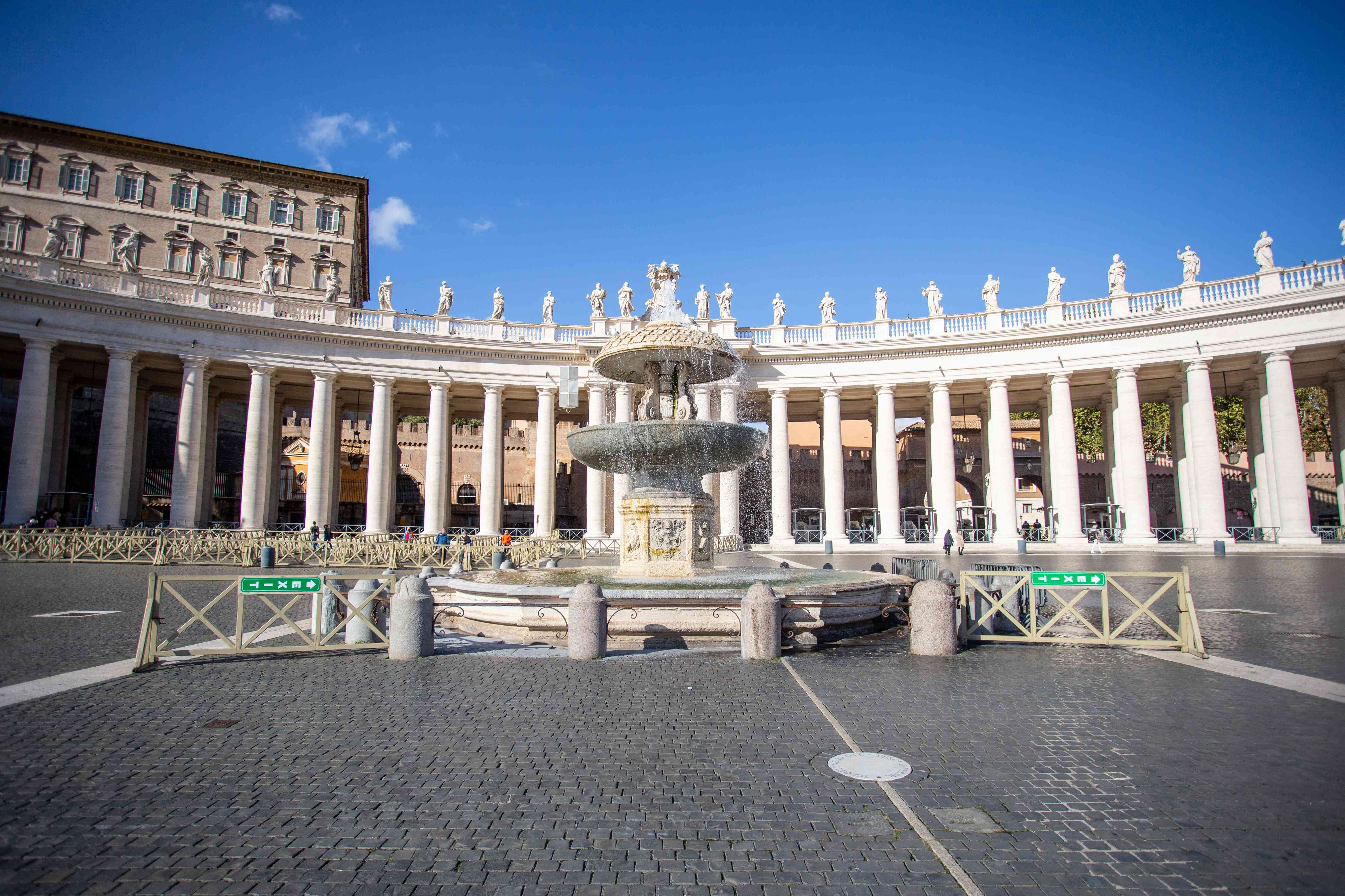 Saint Peter's Square Fountains in Rome, Italy