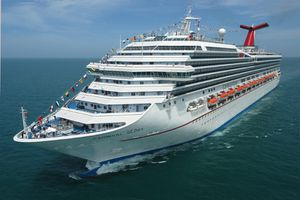 Carnival Glory cruise ship on the water