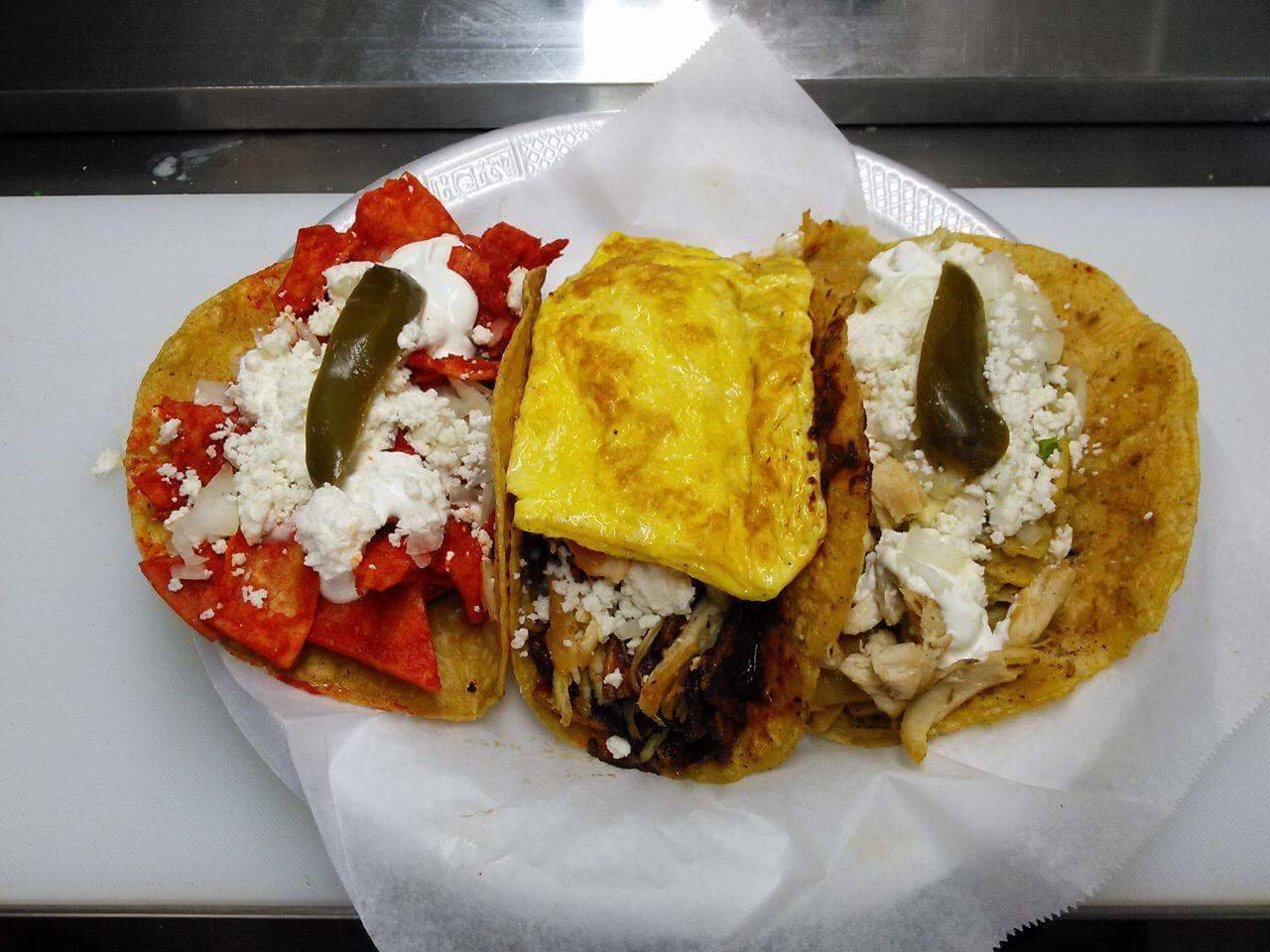 Chilaquiles tacos