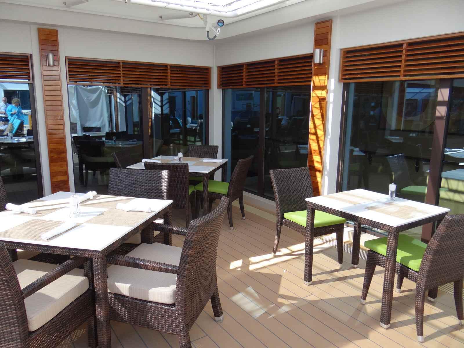 The Haven outdoor lounge on the Norwegian Getaway