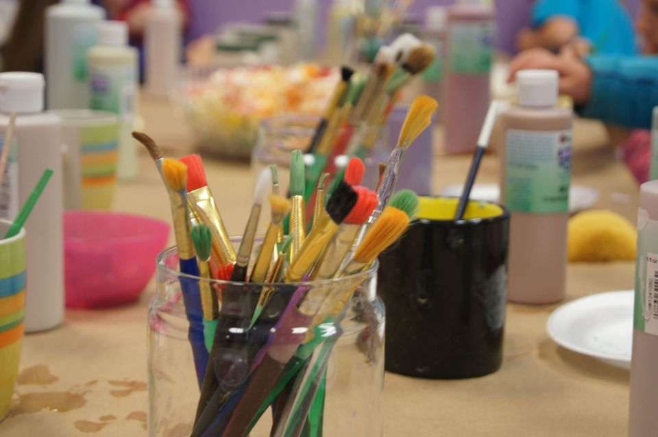 Parties That Add In Painting Pottery Or Other Pursuits Are Perfect For All Ages Especially If Youve Got Older Siblings The Mix