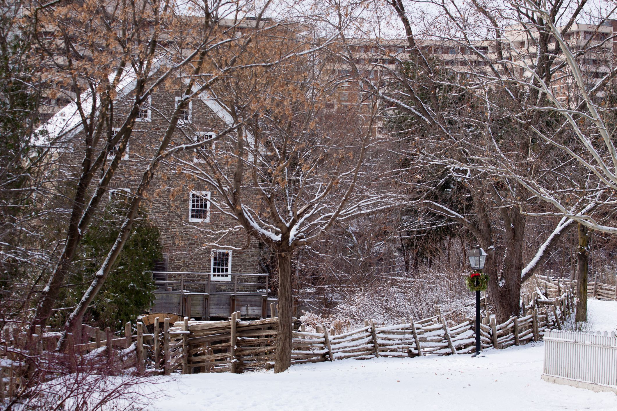 The picture of Black Creek Pineer Village at Christmas time