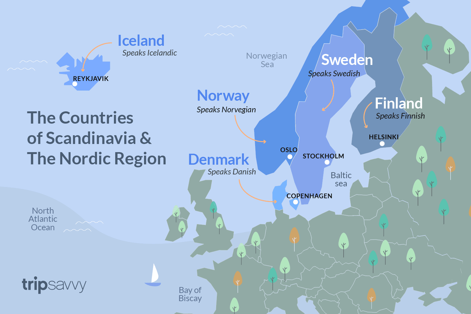 Nordic Europe Map.Countries Of Scandinavia And The Nordic Region