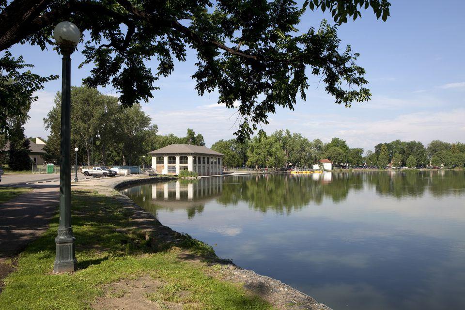 Smith Lake Pavilion Reflections in Washington Park Denver Colorado