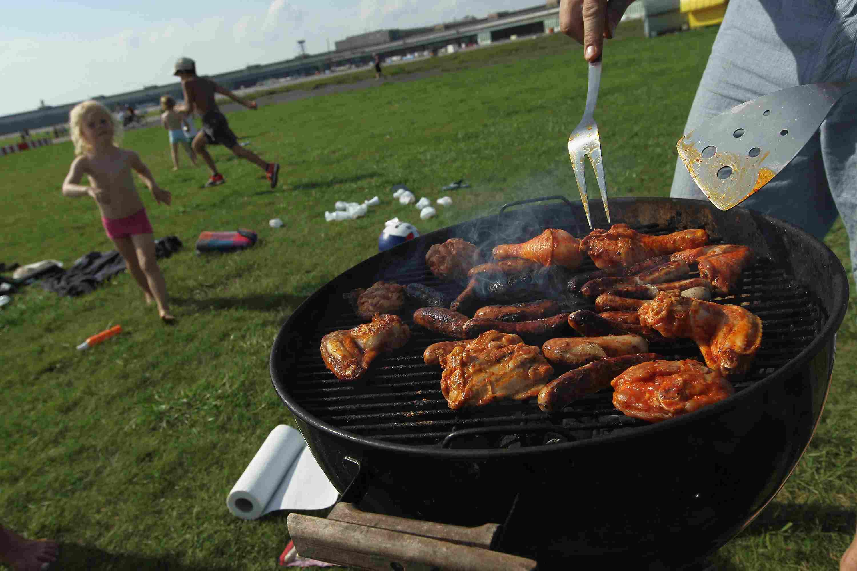 Grilling party at Berlin's Tempelhof Park