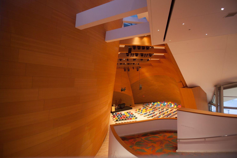 Inside the public area in Disney Concert Hall