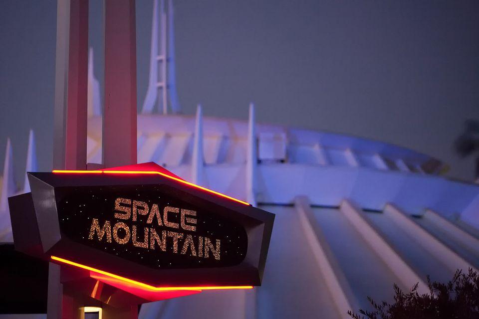 Disneyland Space Mountain at Night