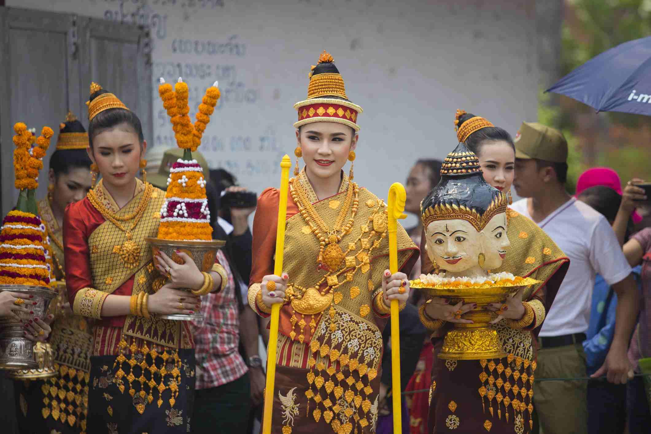 Nang Sangkhan procession, Luang Prabang, Laos