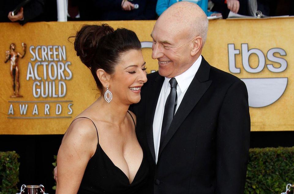 "Above: ""Star Trek : The Next Generation"" costars Marina Sirtis and Patrick Stewart living the life at the 17th Annual Screen Actors Guild Awards on January 30, 2011 in Los Angeles, California."