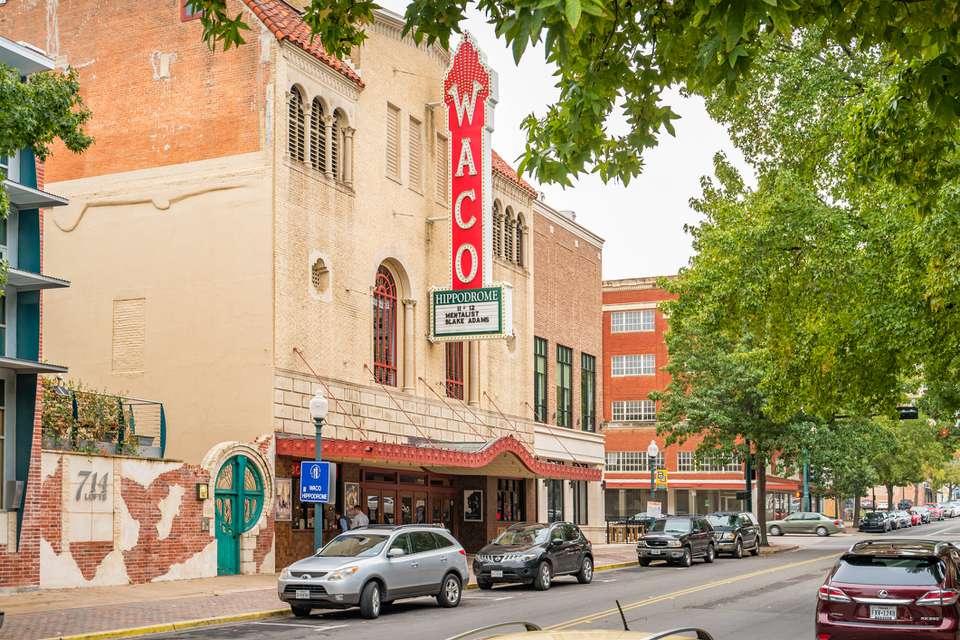 Teatro Hippodrome en el centro de Waco, Texas, EE.UU.