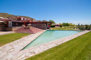 Frank Lloyd Wright and Taliesin West in Scottsdale, AZ