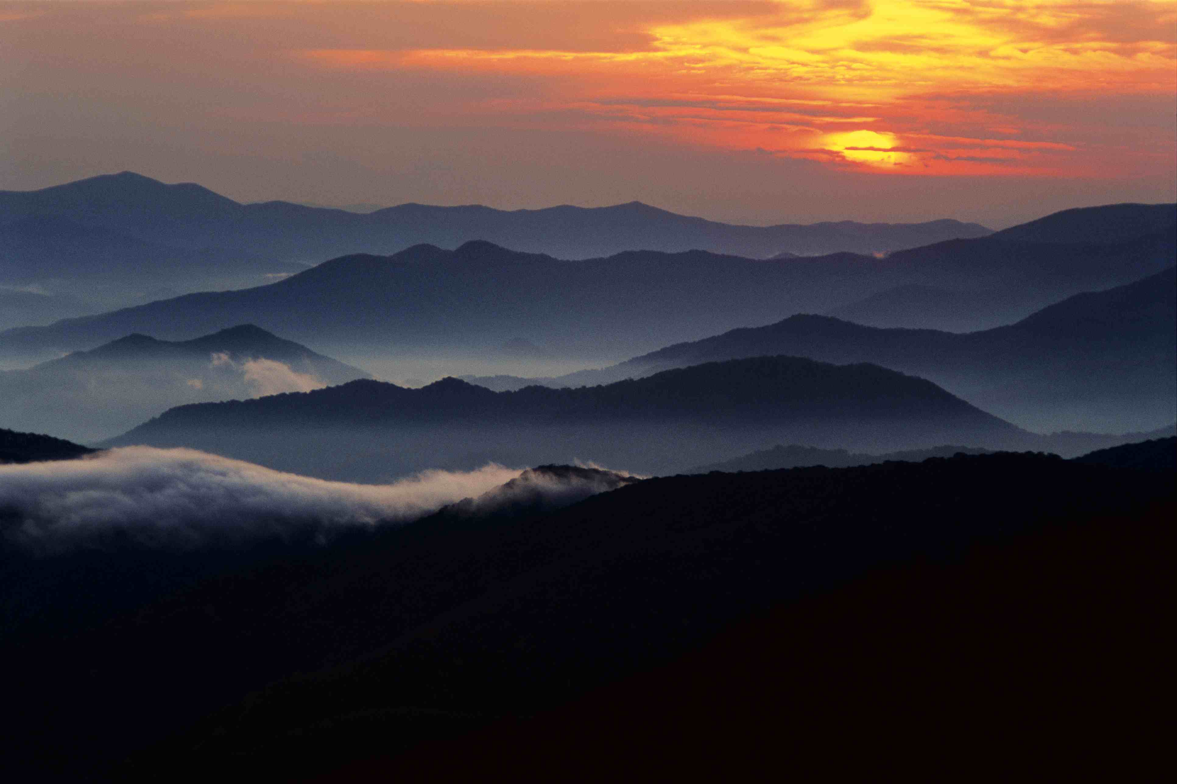 Sunset from Clingman's Dome, Great Smoky Mountains National Park, North Carolina, Tennessee, USA