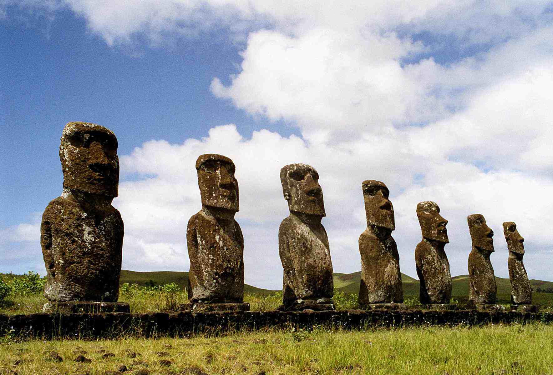 Seven Moai of Ahu Akivi, Easter Island