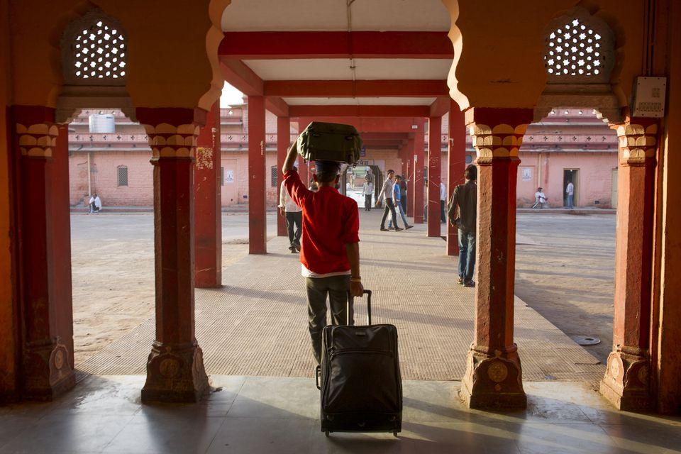 Porter in India.