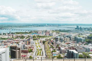 View of Montreal from Place Ville Marie Observatoire