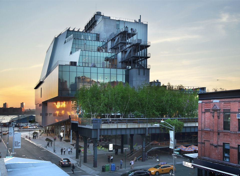 A view of the Whitney Museum at 99 Gansevoort Street